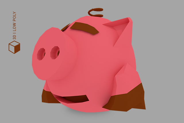 Cerdito low poly