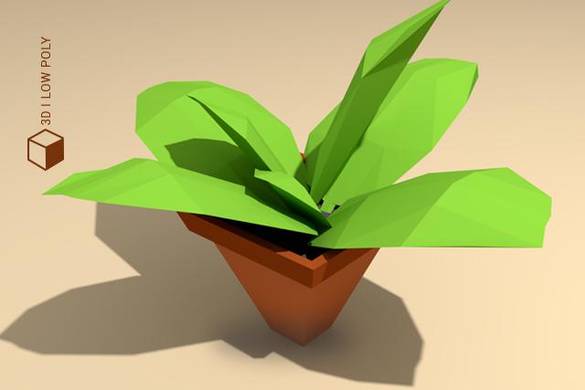 planta low poly